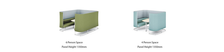 休闲协作家具 inframe Sofa-screen-booth-range - 副本